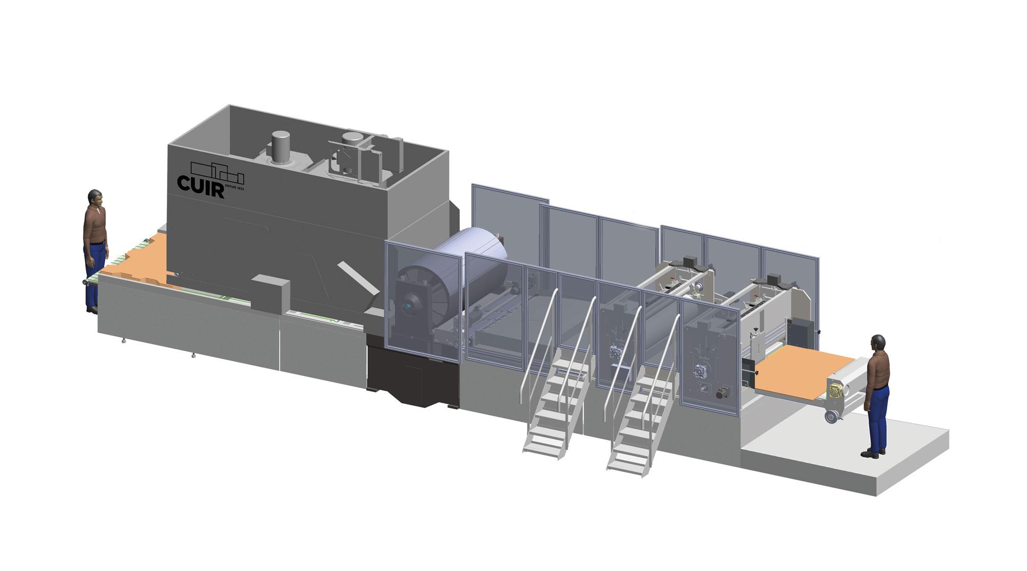 Mini Cuir - cuir - Impression et découpe sur du carton ondulé - Flexographie
